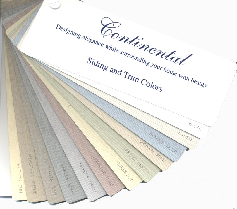 Siding And Trim Product Colors