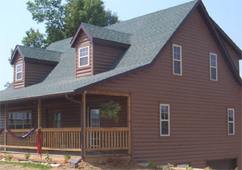 Log cabin vinyl siding continental siding supply Vinyl siding that looks like stone